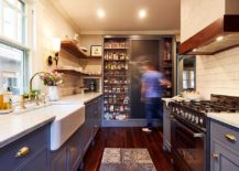Fabulous-pantry-with-sliding-chalkboard-door-also-doubles-as-a-cool-display-217x155