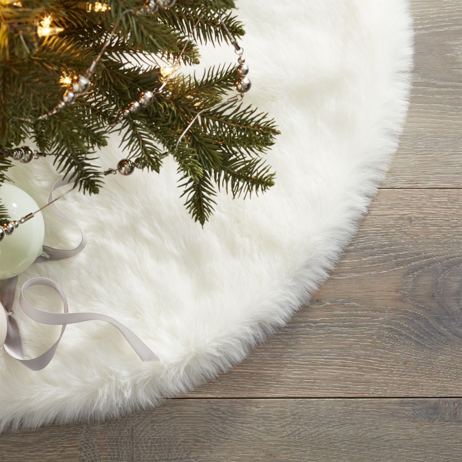 Faux fur tree skirt from CB2