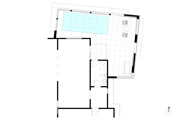 Floor plan of Los Altos Pool House
