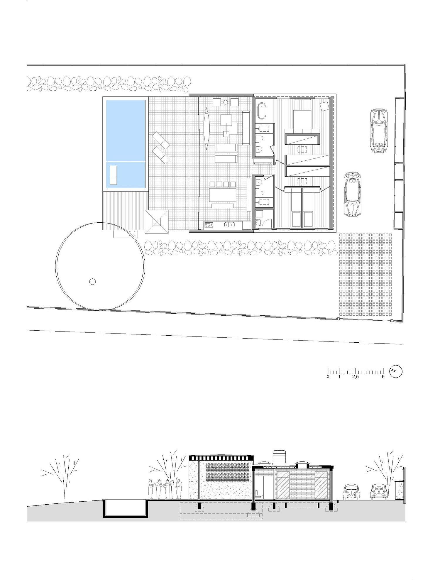 Floor plan of Mugs House in Tatuí, Brazil