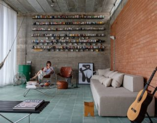 Quirky House In Brazil Has Stunning Outdoor Space and Wall of Mugs