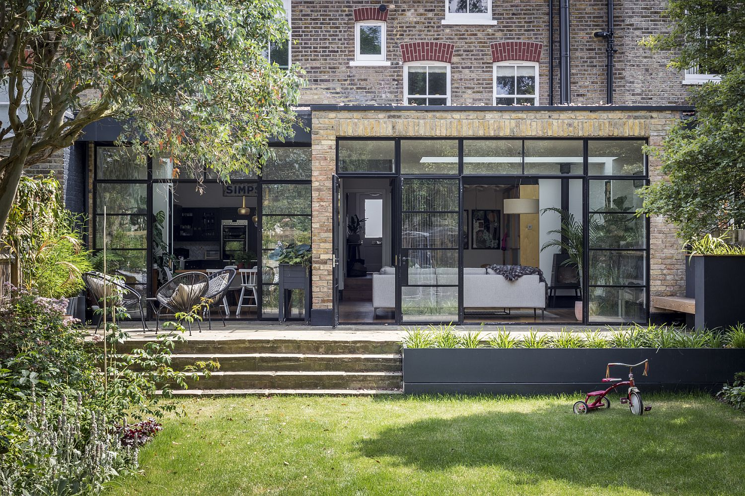 Lovely rear extension and makeover of home in South London