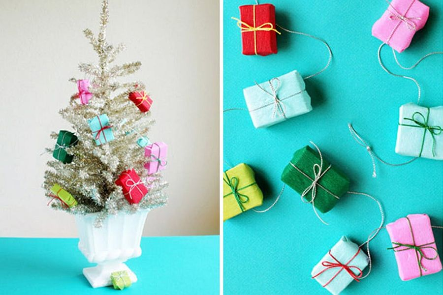 Mini presents garland can be used in more ways than one!