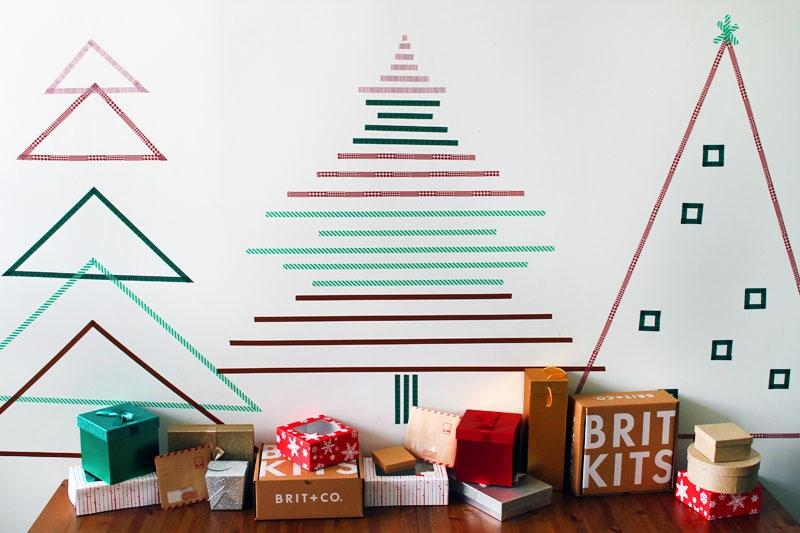 Minimal and easy Washi Tape Christmas Tree