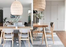 Modern-dining-room-in-white-and-wood-in-an-open-plan-living-217x155