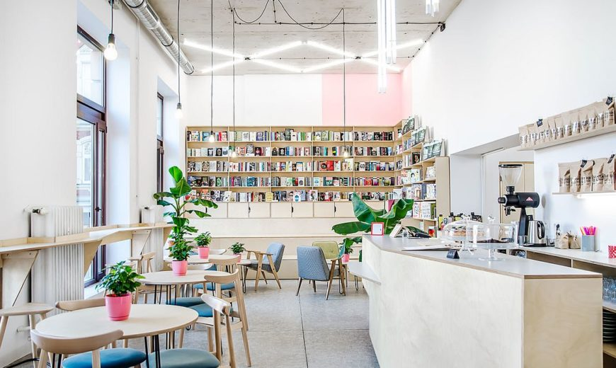This Trendy Coffee House and Bookstore in Poznan was an Old Milk Bar!