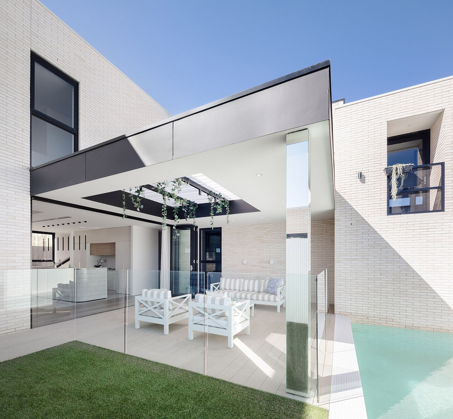 A Study in White Minimalism: Contemporary Sydney Residence with a Smaller Brother!