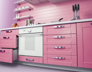 Trendsetting Hue: Add a Touch of Pink to Your Kitchen in Style!