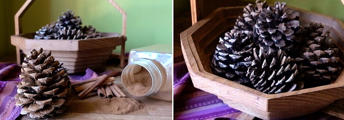 Scented pine cone DIY Idea