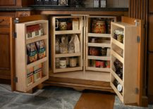 Small-and-space-savvy-pantry-design-idea-that-opens-up-when-needed-217x155