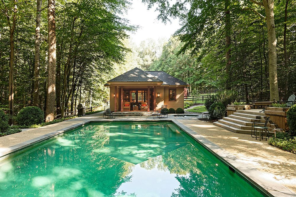 Take a rustic approach to pool house design
