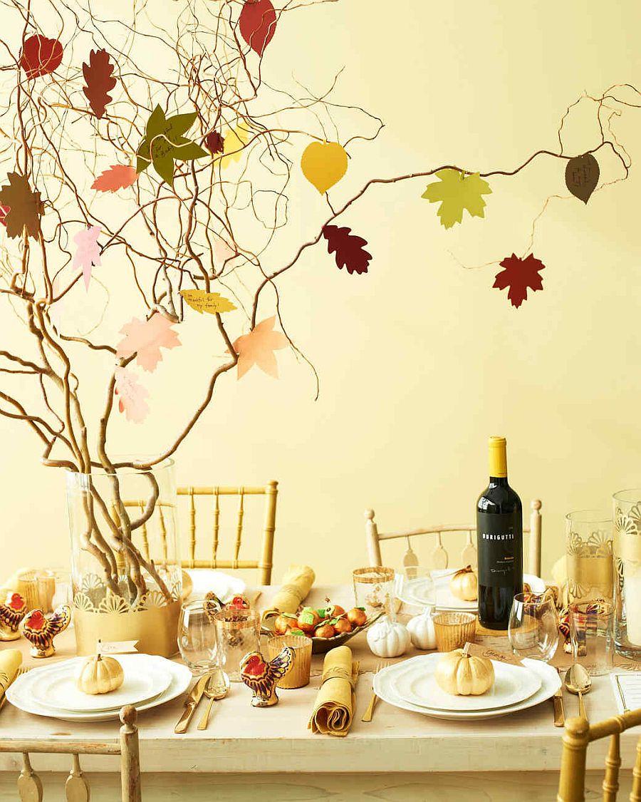 Thanksgiving Table Top Thankful Tree Idea