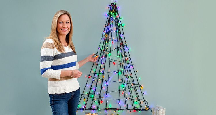 Twinkly wall tree lights up your home this Christmas