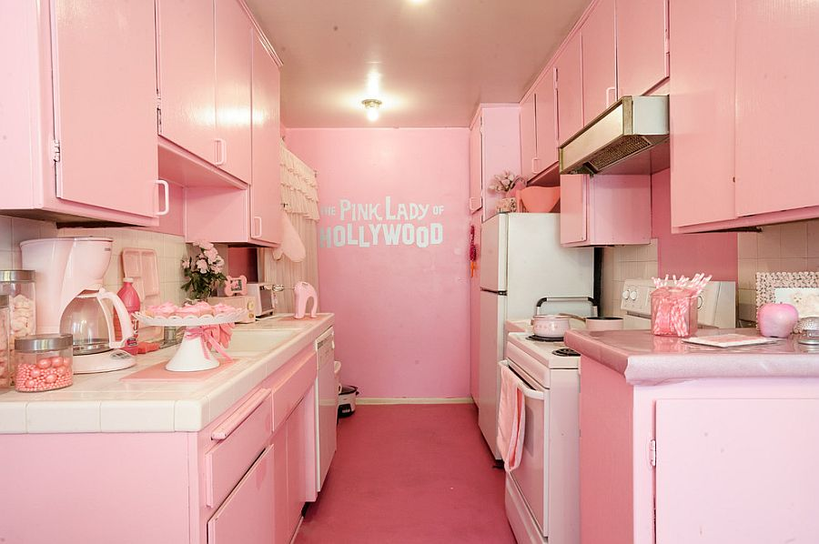 Uber-stylish all pink kitchen is a showstopper in its own way!