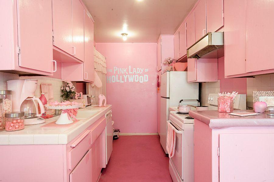 Image result for pink kitchen