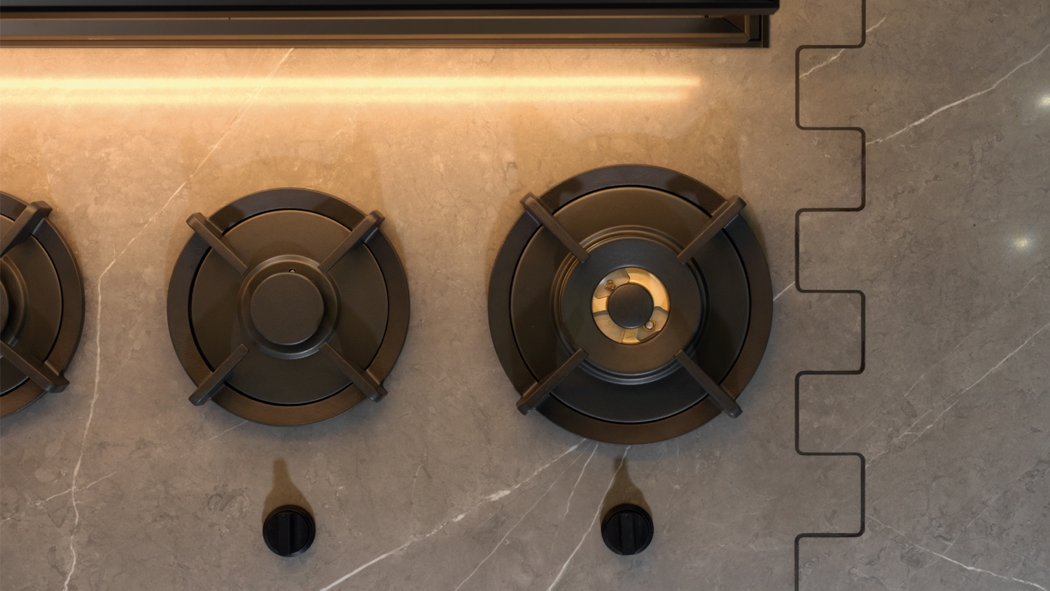 4. Cooking hobs and XLIGHT worktop