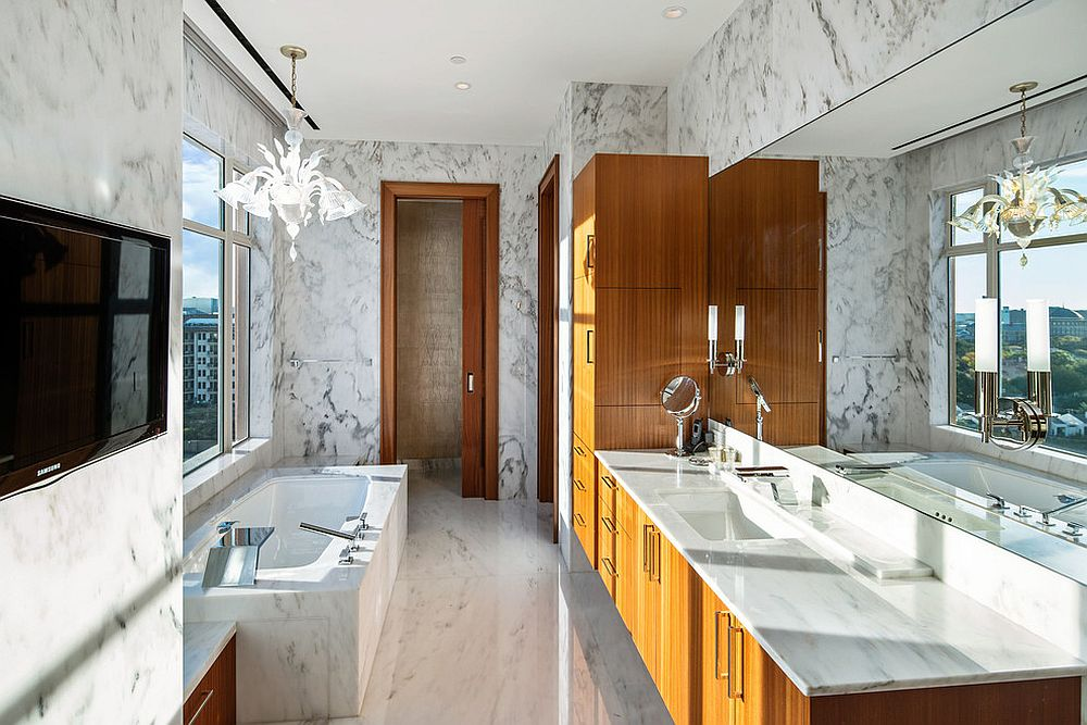 Balance-between-white-and-wood-inside-the-bathroom-draped-in-marble