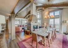 Beautiful-and-spacious-dining-area-of-the-Shem-shak-chalet-with-pink-purple-and-fuchsia-pops-217x155