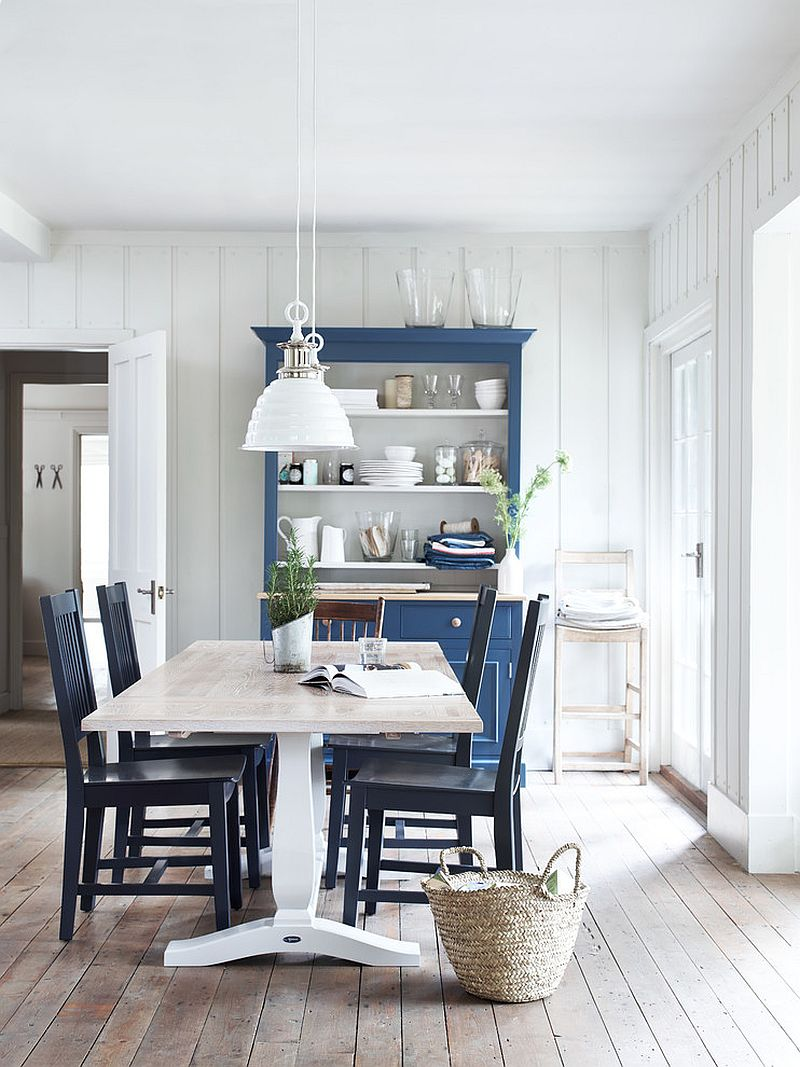 Beautiful dining room rolls Scandinavian and farmhouse styles into one