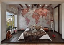 Bedroom-of-bachelor-pad-with-world-map-as-its-backdrop-217x155