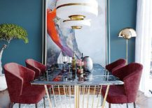 Blue-dining-room-where-metal-and-white-mix-beautifully-217x155