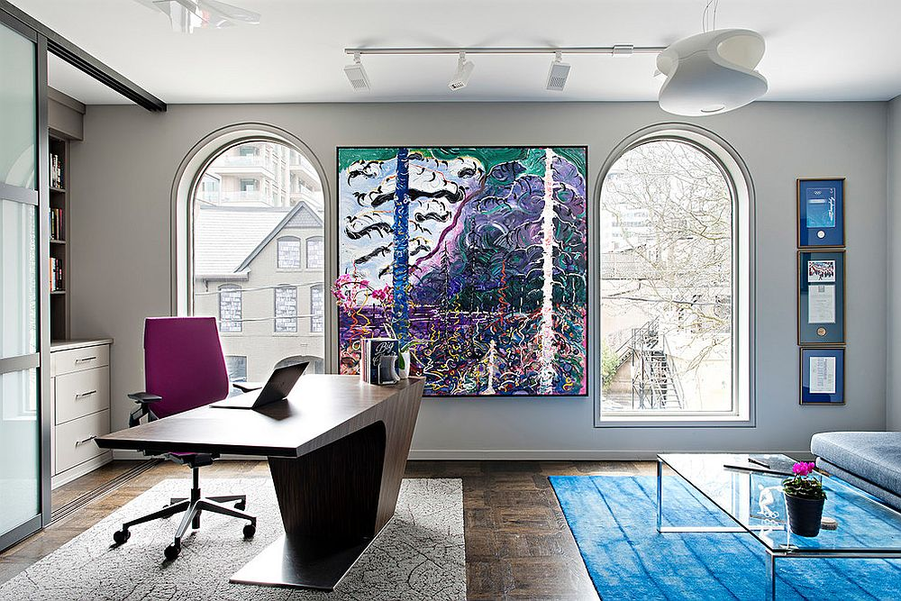 Brilliant-pops-of-color-coupled-with-gray-and-white-in-the-home-office