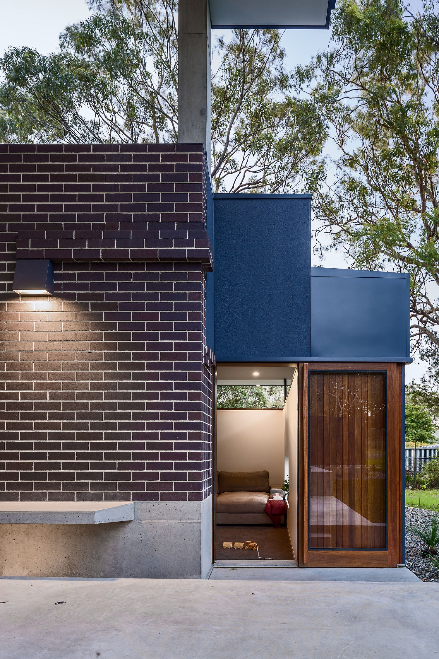 Classic and modern design influences merge inside the Brass House