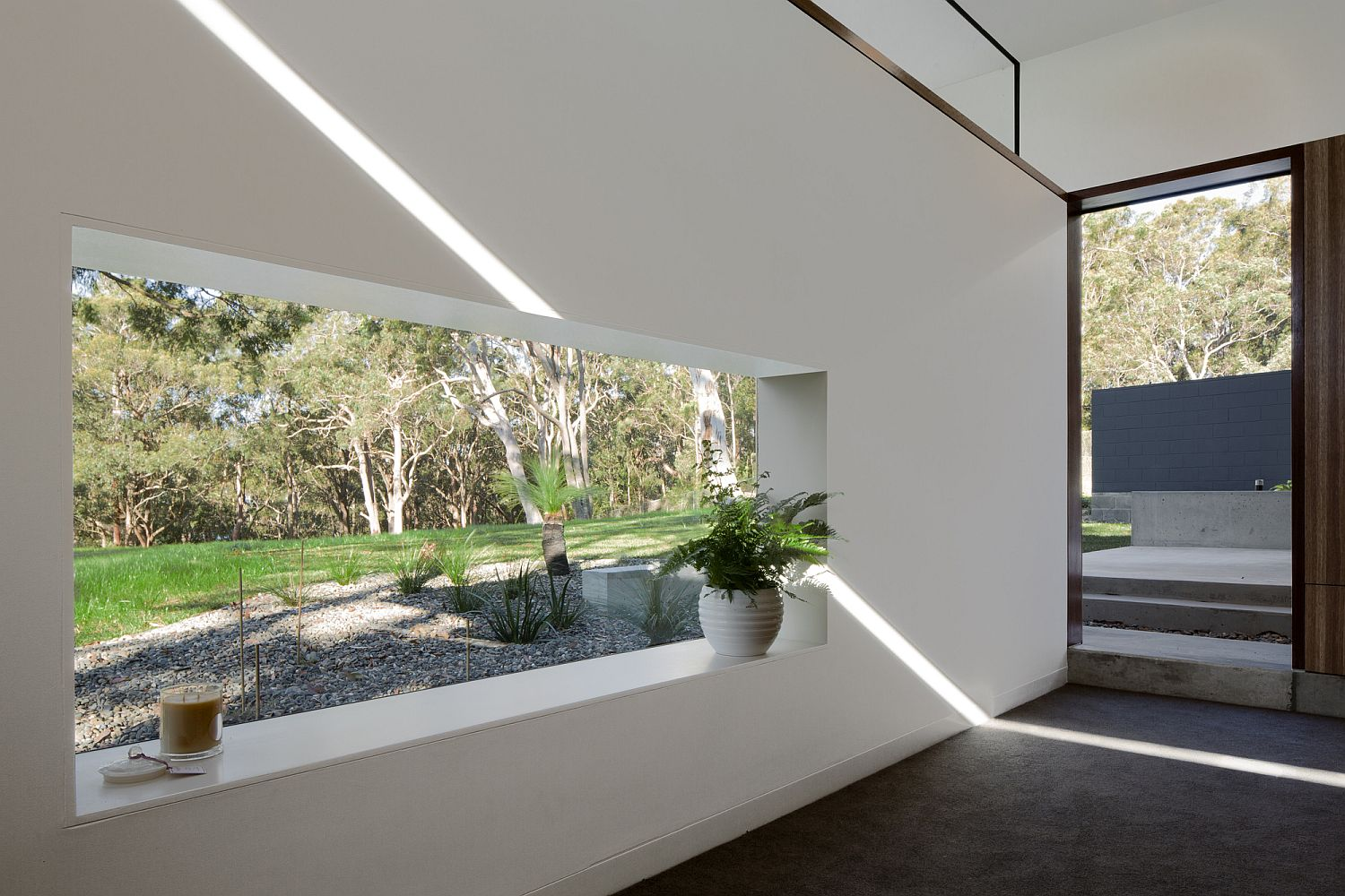 Cut-outs and windows bring in ample natural light
