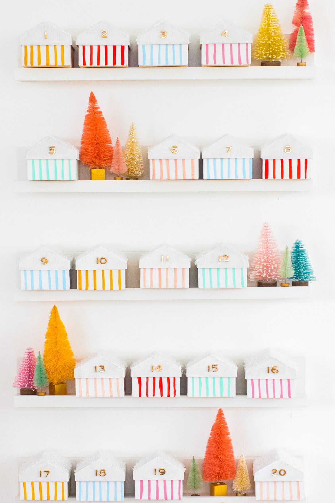 DIY house advent calendar from Sugar & Cloth