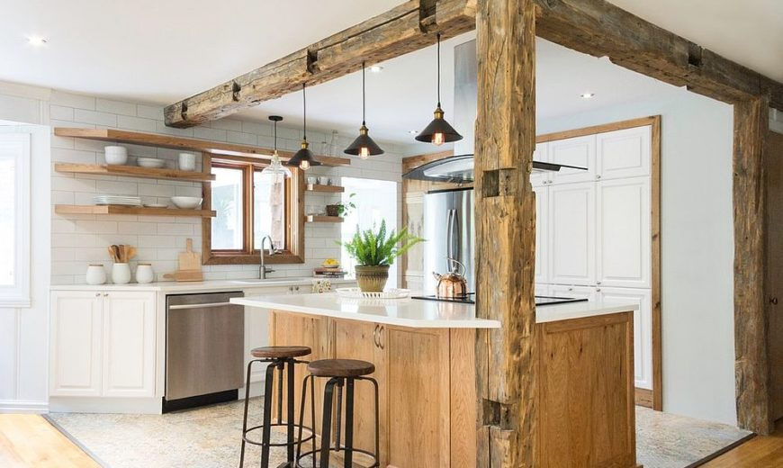 25 Dream Kitchens In Wood And White Refined Cozy And Functional