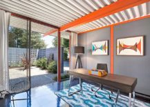 Eclectic-midcentury-home-office-with-vivacious-orange-accents-217x155