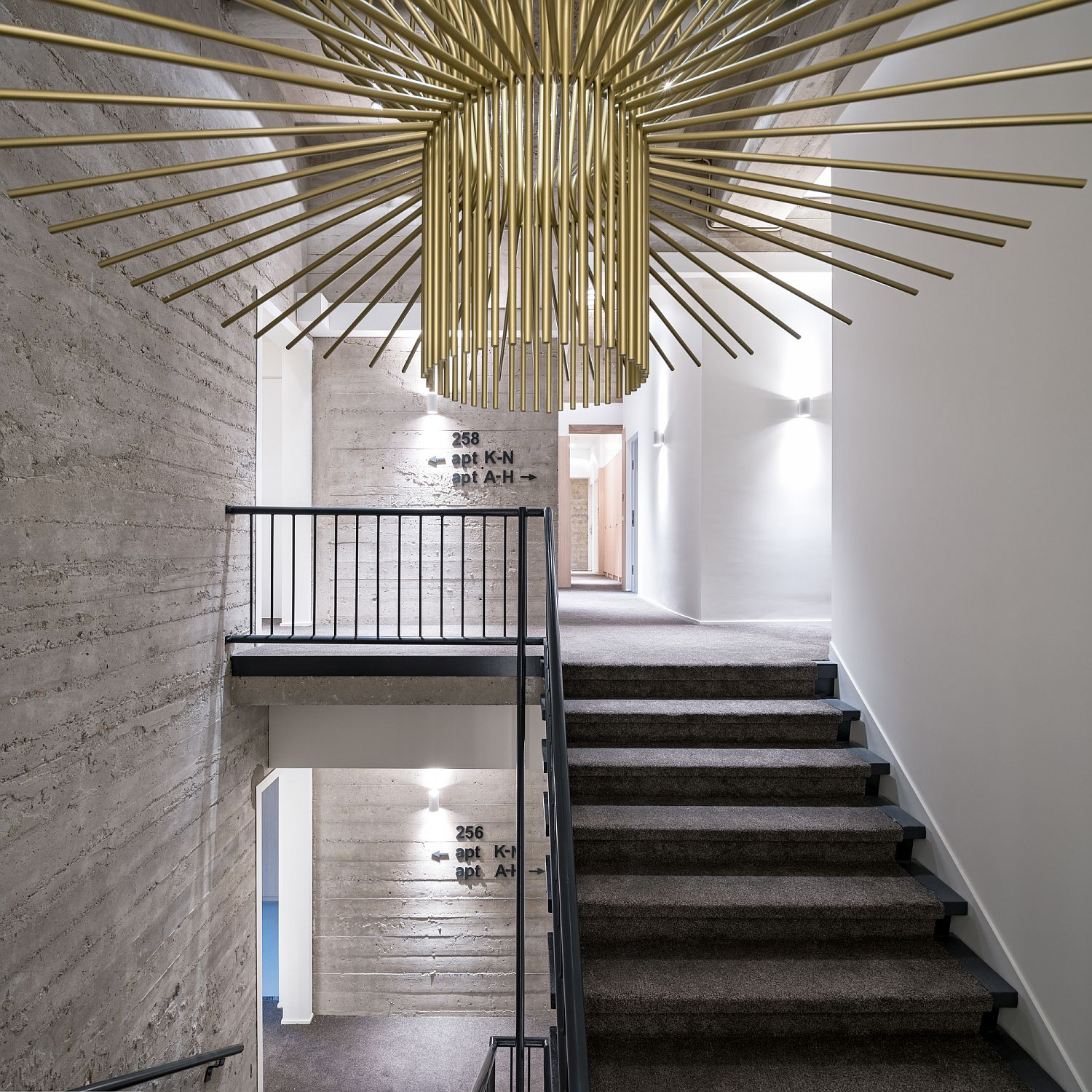 Entry into the Urban Lofts building