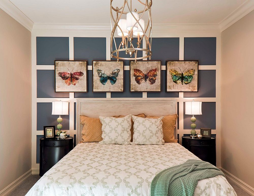 Eye-catching wall art addition to the modern bedroom
