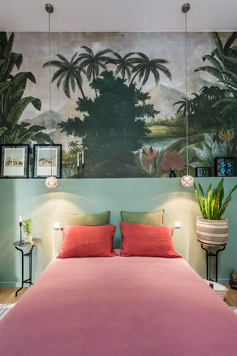 Finding the right backdrop for the tropical style bedroom
