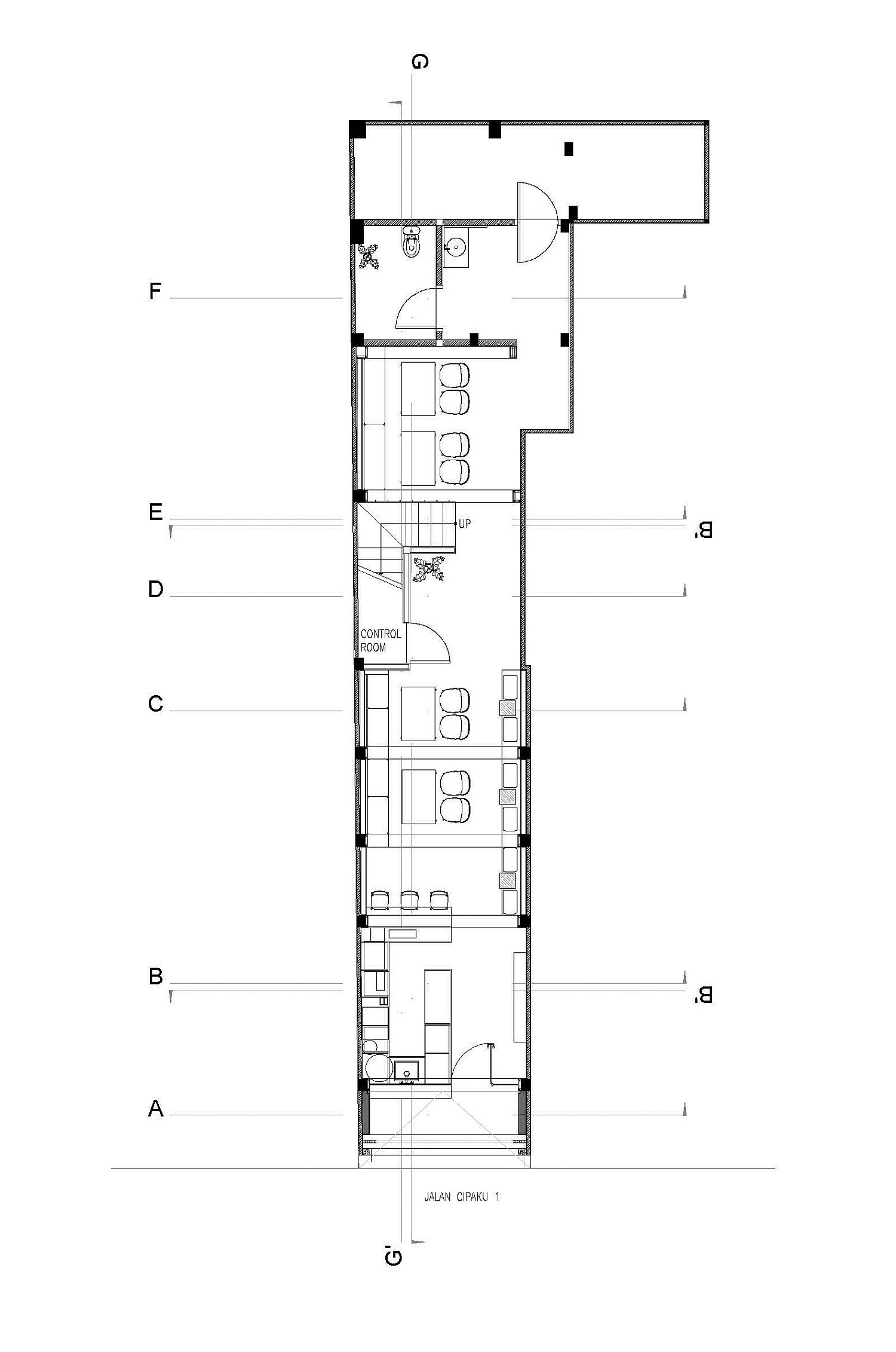 First floor design plan of Cliq Coffee