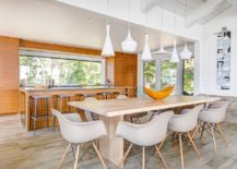 Geometric-contrast-takes-over-with-lighting-fixtures-in-this-dining-space-217x155
