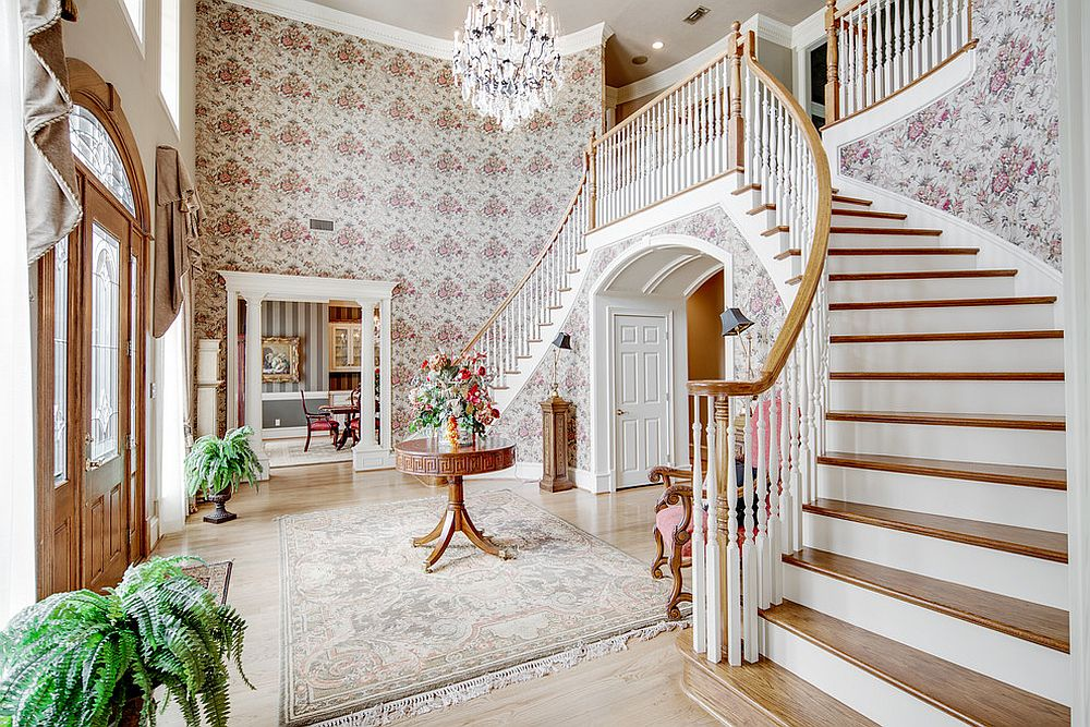 Gorgeous and grand traditional entry makes a big visual impact