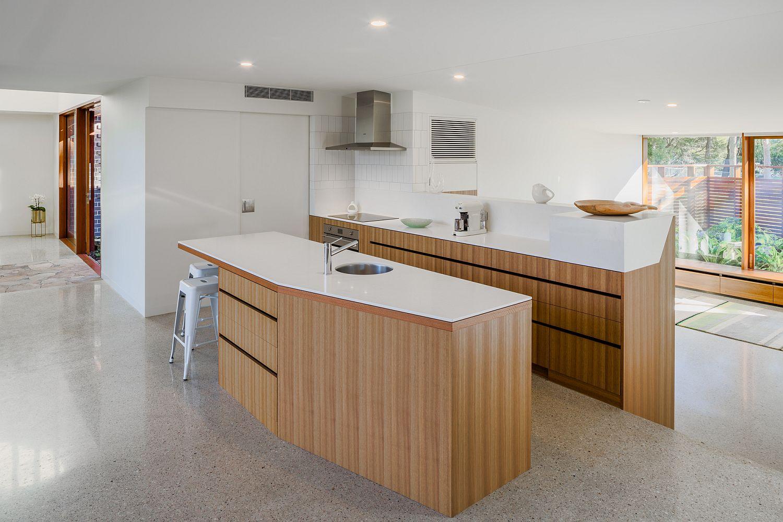 Gorgeous-wood-and-white-kitchen