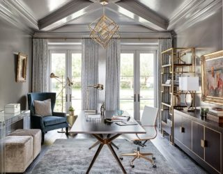 25 Trendy Gray Home Offices Combining Sophistication with Organization