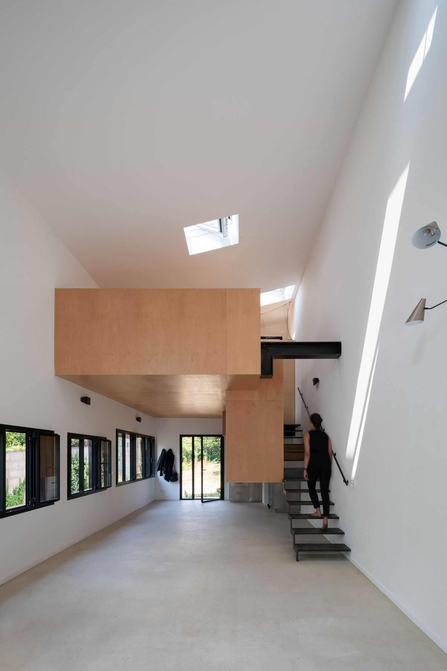Interior of revamped studio in Montreuil, France