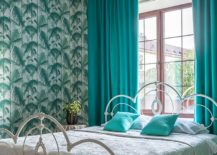 Lovely-use-of-green-and-teal-in-the-vivacious-tropical-style-bedroom-217x155
