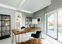 Midcentury-modern-home-office-with-ample-natural-light-and-white-ceiling-217x155