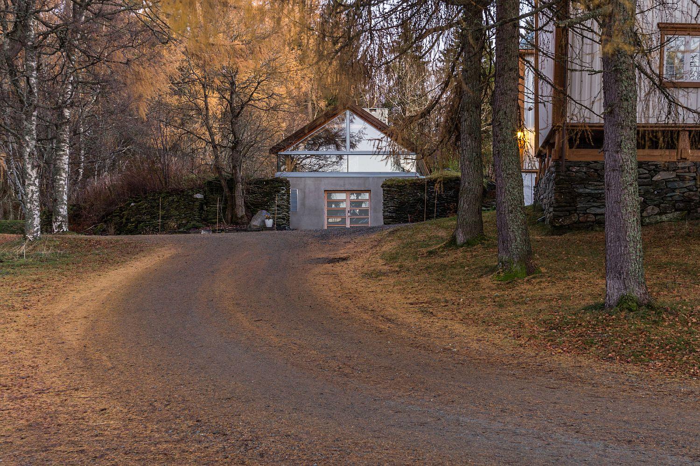 Pathway leading to the Ferstad Farm Distillery