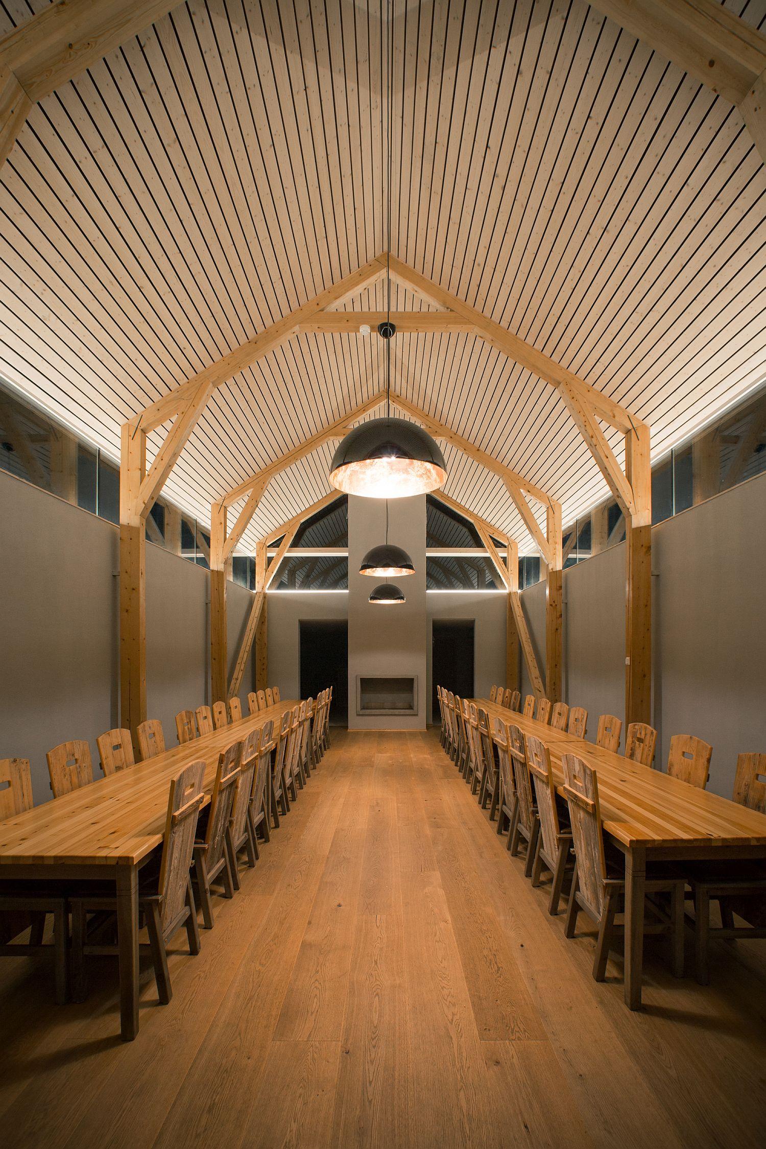 Pendnat lighting makes a big impact inside the distillery