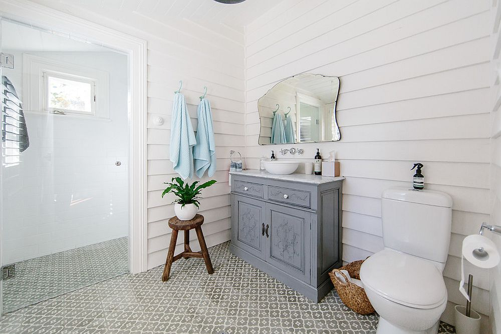 . 25 Wood and White Bathrooms for a Trendy  Relaxing Shower