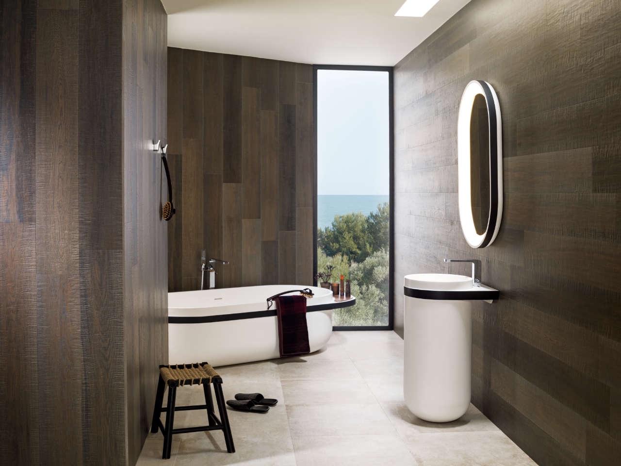 Systempool-Porcelanosa-KRION-bathroom-Aro-nogal-2