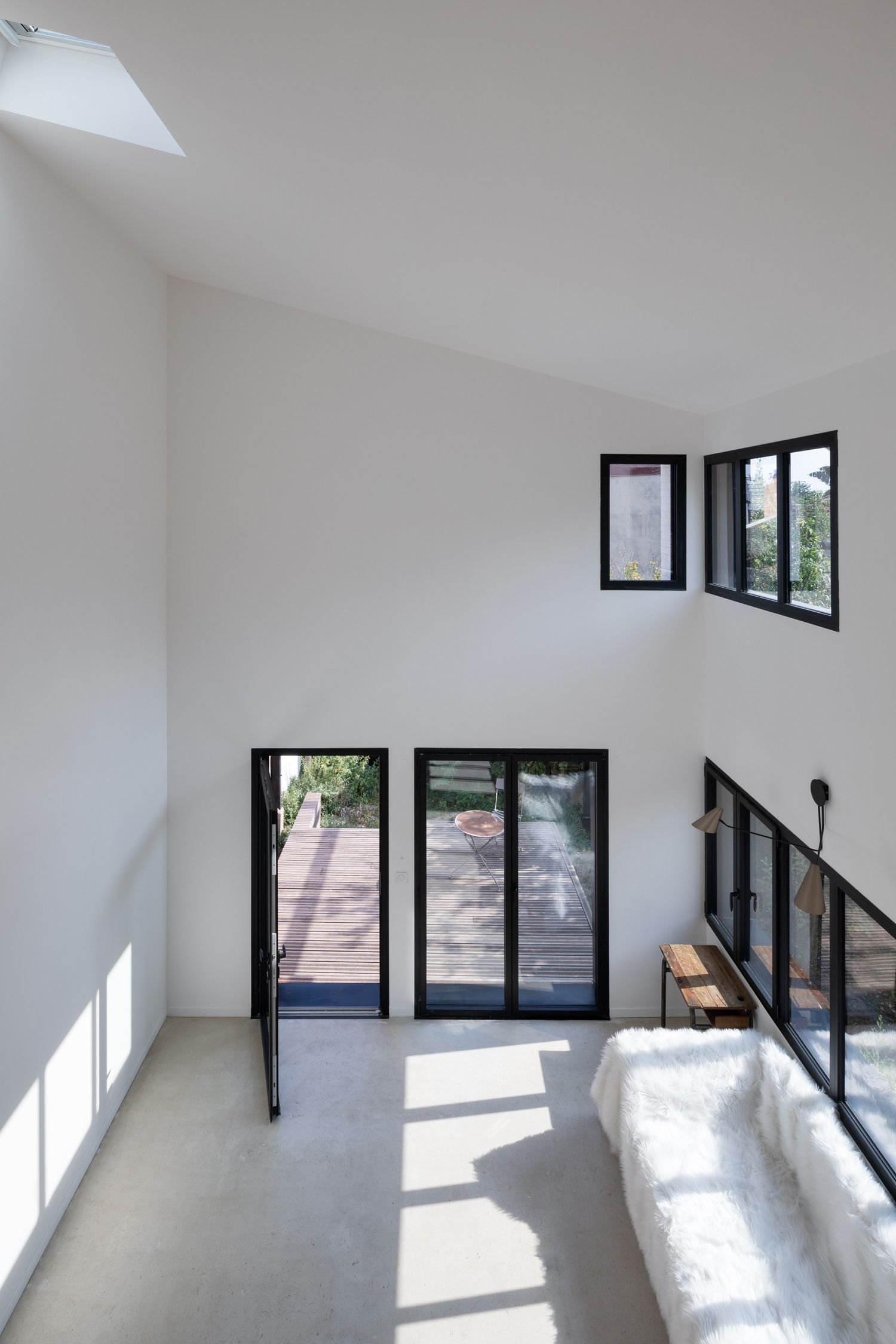 Tall ceiling makes the innovative design inside the house possible