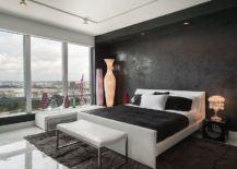 Textured-accent-wall-in-black-for-the-modern-bedroom-217x155