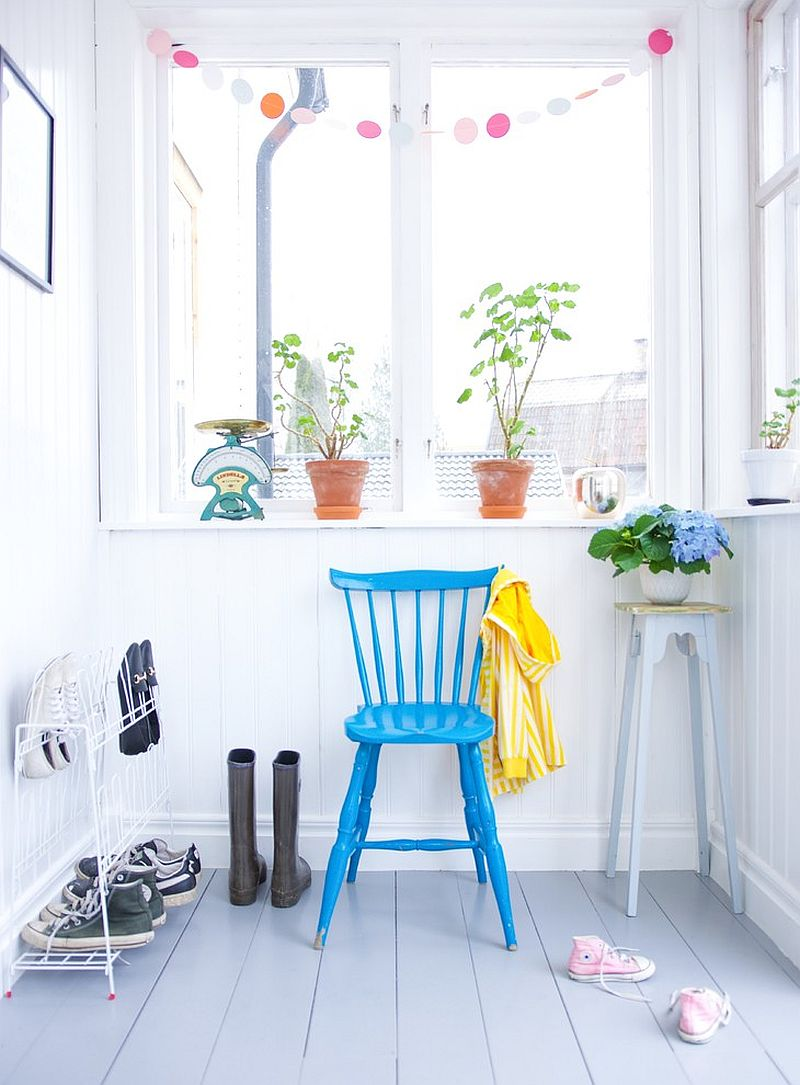 Urban mudroom is much different from its more heavy-duty counterparts