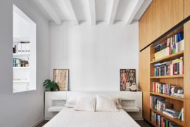 Custom Oak Units and Shelves Bring Freshness to this Revamped Barcelona Apartment